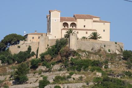 Nordost-Mallorca - Wallfahrtskirche Santuari de Sant Salvador in Arta mit atemberaubenden Ausblick.