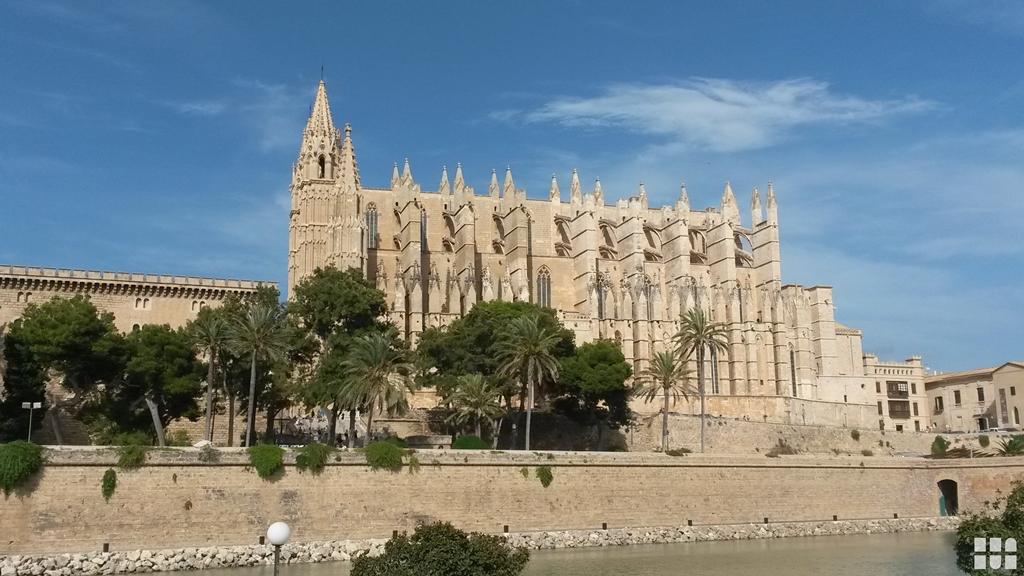 Buchen Sie eine Finca auf Mallorca - Romantische Perle des Mittelmeers - Die Kathedrale La Seu der Heiligen Maria in der spanischen Hafenstadt Palma bei Tag